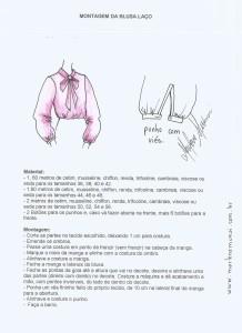 Esquema de Montagem da Blusa Laço.