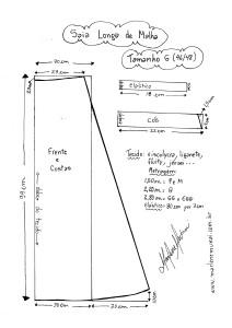 Molde de Saia de Malha tamanho G (46/48).