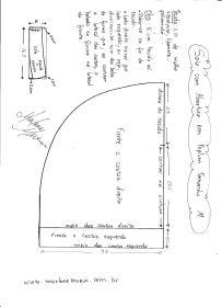Esquema de modelagem de Saia com Abertura circular tamanho M.
