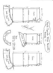 Esquema de modelagem de Vestido Ciganinha Fátima Bernardes tamanho 52.