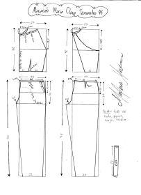 Esquema de modelagem do Macacão Maria Clara tamanho 46.