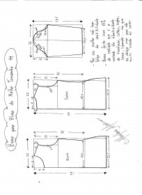 Base para blusa de malha tamanho 44.