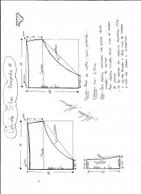 Esquema de modelagem de calcinha slim tamanho M.