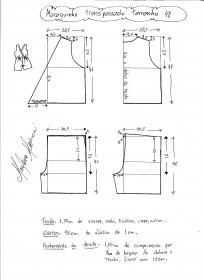 Esquema de modelagem de macaquinho com transpasse tamanho 48.