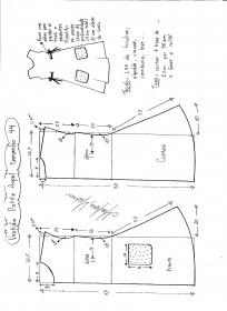 Esquema de modelagem de Vestido Dottie Angel tamanho 44.