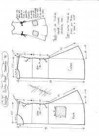 Esquema de modelagem de Vestido Dottie Angel tamanho 46.