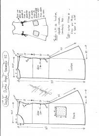 Esquema de modelagem de Vestido Dottie Angel tamanho 52.