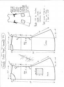 Esquema de modelagem de Vestido Dottie Angel tamanho 54.