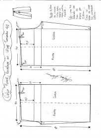 Esquema de modelagem de Calça Pareô, Wrap ou Envelope tamanho 40.