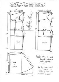 Esquema de montagem de vestido de festa ombro a ombro sereia tamanho tamanho 42.