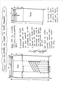 Esquema de modelagem da saia lápis com pregas na frente 52.