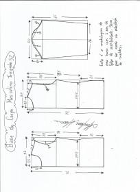 Esquema de modelagem de Base do Corpo Masculino tamanho 52.