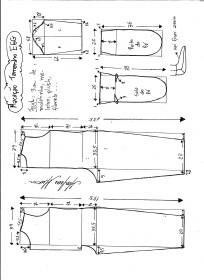 Esquema de modelagem de macacão pijama tamanho Esquema de modelagem de macacão pijama tamanho EGG.