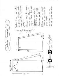 Esquema de modelagem de camisola M.