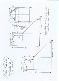 Esquema de modelagem de Túnica Plus Size tamanho 48.