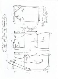 Esquema de modelagem de Blazer Smoking tamanho 40.