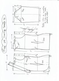 Esquema de modelagem de Blazer Smoking tamanho 46.