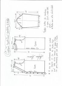 Esquema de modelagem de cardigan tamanho EXGG(56/58).