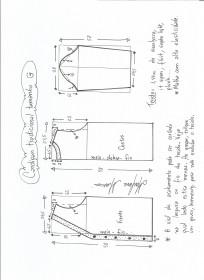Esquema de modelagem de cardigan tamanho G (44/46).