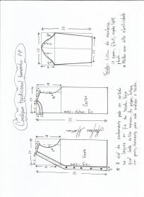 Esquema de modelagem de cardigan tamanho PP (34/36).
