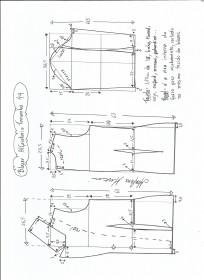 Esquema de modelagem de blazer alfaiataria gola de bico tamanho 44.