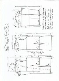 Esquema de modelagem de blazer alfaiataria gola de bico tamanho 54.