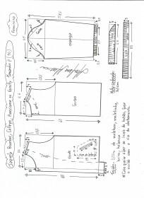 Esquema de modelagem de jaqueta bomber, college, americana ou varsity tamanho P.