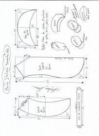 Esquema de modelagem de boina italiana tamanho GG.