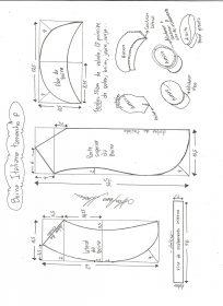 Esquema de modelagem de boina italiana tamanho P.