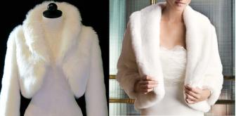 Esquema de modelagem de bolero de pele ecológica que fica bem também em noivas do PP ao EXGG.