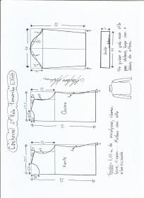 Esquema de modelagem de Blusa cacharrel segunda pele de malha tamanho EXGG.