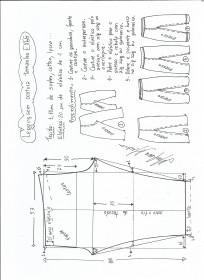 Esquema de modelagem de legging sem costura lateral EXGG.