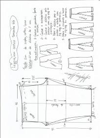Esquema de modelagem de legging sem costura lateral GG.