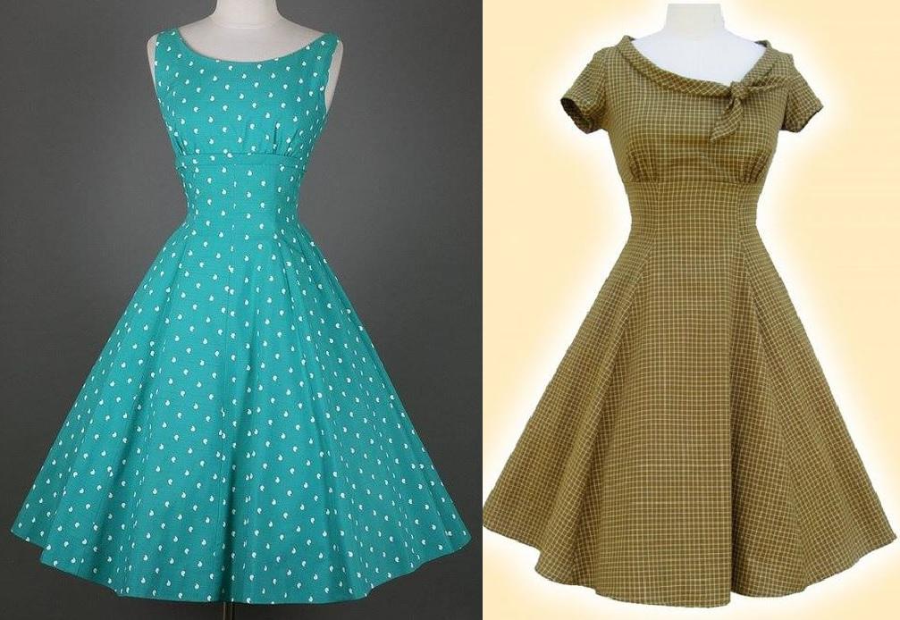Vestido víntage com esquema de modelagem do 36 ao 56. Pode fazer com ou sem manga. Com ou sem o acabamento em viés no decote.