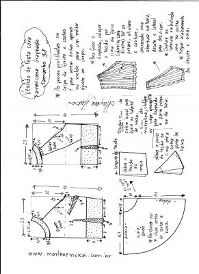 Esquema de modelagem de Vestido de festa cava americana tamanho 38.