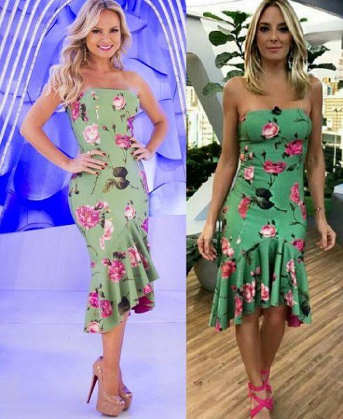Esquema de modelagem de vestido tomara que caia com saia moule e babado para tecido com strech do 36 ao 56.