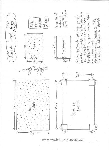 Esquema de modelagem de jogo de lençol de casal King size.