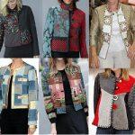 Casaco jaqueta de retalhos
