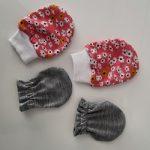 Vídeo e molde de luva de bebê com elástico e com punho