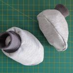 Vídeo e molde de meia sapatinho